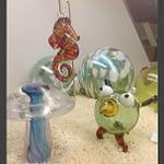 Decorative hand-blown glass art