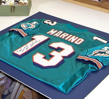 A signed Dan Marino Miami Dolphins jersey