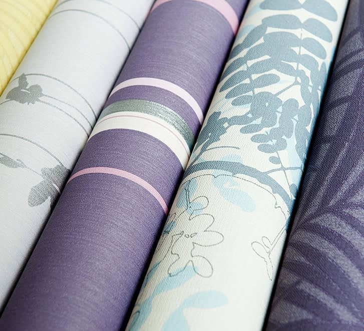 Rolls of multi-colored wallpaper from the Frame Cellars sister company the Wallpaper Studio
